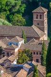 Ansicht der historischen Stadt von Granada Andalusien Spanien Stockbilder