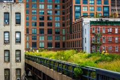 Ansicht der hohen Linie in Manhattan, New York Stockbilder
