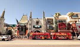 Ansicht der Hollywood-Prachtstraße in Los Angeles Stockbild