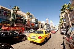 Ansicht der Hollywood-Prachtstraße in Los Angeles Stockfotografie