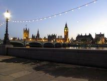 Ansicht der housees des Parlaments und des großen Ben Clocks Lizenzfreie Stockbilder