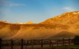 Ansicht der Hunewill-Ranch nahe Bridgeport, Kalifornien im Spätfrühling stockfoto
