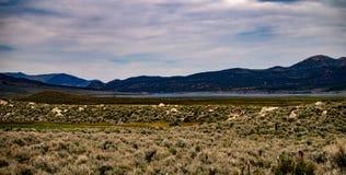 Ansicht der Hunewill-Ranch nahe Bridgeport, Kalifornien im Spätfrühling stockfotografie