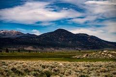 Ansicht der Hunewill-Ranch nahe Bridgeport, Kalifornien im Spätfrühling stockfotos