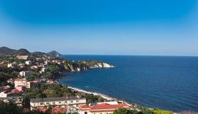 Ansicht der Insel von Elba Stockbild
