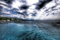 Ansicht der Küste Lizenzfreies Stockbild