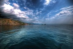 Ansicht der Küste Stockfotografie