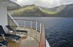 Ansicht der Küste vom Balkon Lizenzfreie Stockfotos