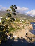 Ansicht von Balcon de Europa in Nerja Spanien Stockbild