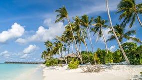 Ansicht der Küste von irufushi Insel, Malediven Lizenzfreies Stockbild