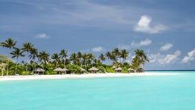 Ansicht der Küste von irufushi Insel, Malediven Stockfotos