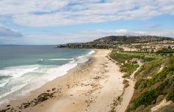 Ansicht der Küstenlinie bei Dana Point in Kalifornien Stockbild