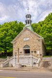 Ansicht an der Kapellen-zur Erinnerung nahen Basilika Sainte Anne de Beaupre in Kanada lizenzfreies stockfoto