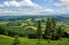 Ansicht der Karpatenberge, schöne Berglandschaft Lizenzfreie Stockbilder