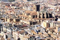 Ansicht an der Kathedrale von Granada, Spanien Lizenzfreies Stockfoto