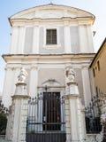 Ansicht der Kirche Chiesa di San Zeno in Brescia-Stadt stockfotografie