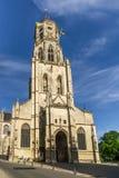 Ansicht an der Kirche des Heiligen Gummarus in Lier - Belgien lizenzfreie stockbilder