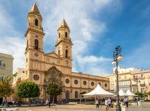 Ansicht an der Kirche von San Antonio in Cadiz - Spanien stockfotografie