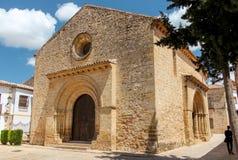 Ansicht an der Kirche von Santa Cruz In Baeza lizenzfreies stockbild