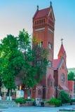 Ansicht der Kirche von St. Simeon und St. Helena in Minsk, Belaru stockfotografie