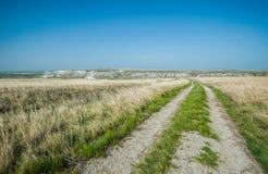 Ansicht der Kreideberge im Don River-Tal, Donskoy-Park Lizenzfreie Stockfotografie