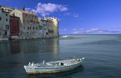 Ansicht an der kroatischen Stadt Rovinj (Rovigno) Lizenzfreies Stockfoto