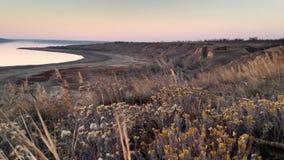 Ansicht der Kuyalnik-Mündung vom Hügel stockbild