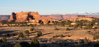 Ansicht der La Salle Berge vom Nadel-Bezirk Utah lizenzfreie stockfotos