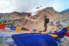 Ansicht der Landschaft Namgyal Tsemo Gompa in Leh, Ladakh, Indien stockfotografie