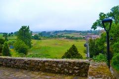 Ansicht der Landschaft von Santillana Del Mar, Kantabrien, Spanien, Esprit Lizenzfreie Stockfotografie
