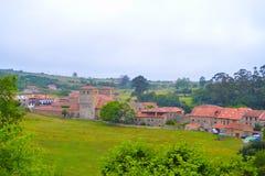 Ansicht der Landschaft von Santillana Del Mar, Kantabrien, Spanien Gre Lizenzfreies Stockbild