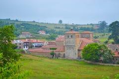 Ansicht der Landschaft von Santillana Del Mar, Kantabrien, Spanien Gre Stockbilder