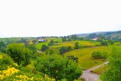Ansicht der Landschaft von Santillana Del Mar, Kantabrien, Spanien Gre Stockfotografie