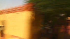 Ansicht der Landseite vom Zug stock video footage