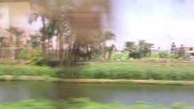 Ansicht der Landseite von Zug HD Video stock footage