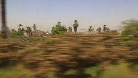 Ansicht der Landseite von Zug HD Video stock video footage