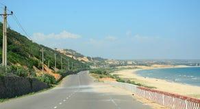 Ansicht der Landstraße von Nha Trang zu Dalat Stockfotografie