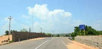 Ansicht der Landstraße von Nha Trang zu Dalat Lizenzfreies Stockbild