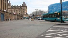 Ansicht der Liverpool-Kalk-Straßen-Station und des Liverpool-Reiches stock footage