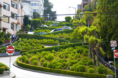 Ansicht der Lombard-Straße Stockbild