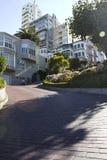 Ansicht der Lombard-Straße, San Francisco (USA) Stockfotografie