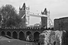 Ansicht der London-Turmbrücke Stockfotografie