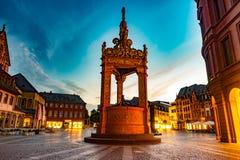 Ansicht der Mainz-Kathedrale und Markt quadrieren Lizenzfreies Stockbild