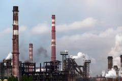Ansicht der metallurgischen Anlage Fertigung des Roheisens und des Stahls Stockfotos
