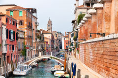 Ansicht der Mitte der Venedig-Stadt Stockfotos