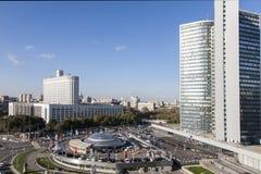 Ansicht der Mitte von Moskau Stockbilder