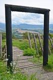 Ansicht der mittelalterlichen Regelung in Slowakei Lizenzfreies Stockbild