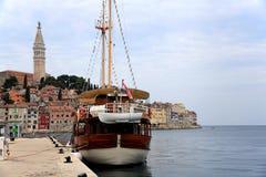 Ansicht der Mittelmeerstadt Rovinj, Kroatien Lizenzfreie Stockfotografie