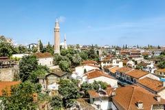 Ansicht der Moschee in der alten Stadt von Kaleici in Antalya lizenzfreie stockfotografie