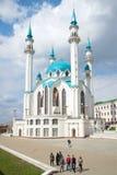 Ansicht der Moschee Kul-Sharif, April-Tag kazan stockfotos